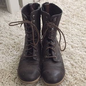 American Rag Combat Boots Brown